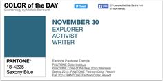 APPart – Mobile Art – Pantone Color of the Day – 'Saxony Blue' – TheAppWhisperer
