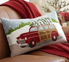 christmas pillow car with tree on top - Google Search