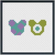 Easy Perler Bead Patterns, Disney Cross Stitch Patterns, 3d Perler Bead, Cross Stitch For Kids, Simple Cross Stitch, Cross Stitch Designs, Perler Bead Disney, Pixel Art Templates, Minnie