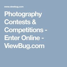 Photography Contests & Competitions - Enter Online  - ViewBug.com