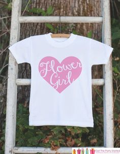 Flower Girl Outfit - Pink Heart Flower Girl T-shirt Girls - Will you be my Flowe. Flower Girl Outfit – Pink Heart Flower Girl T-shirt Girls – Will you be my Flowergirl – Weddi Valentines Outfits, Valentines Day Shirts, Kids Valentines, Day Party Outfits, Girl Outfits, Valentinstag Shirts, Girl 2nd Birthday, Flower Girl Gifts, One Piece Bodysuit