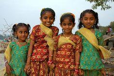 Children on the beach of Cochin, Southern India...Precious