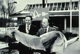 Fred Turner and Ray Kroc looking at blueprints of future McDonald's restaurant    #mcdonalds #McDonald's #nostalgia