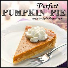 Perfect Pumpkin Pie Recipe by A Creative Chelle