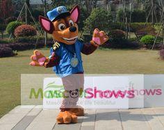 Achat Costume de Macotte Le Paw Patrol Chase Déguisement mascotte costume de Pat Patrouille Chase pas cher