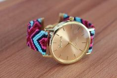 Montre GENEVA, bracelet brésilien · Montres · Boutique L'Amérindienne · Création et vente de bijoux fantaisie faits main