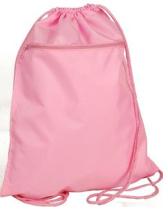 Pink Drawstring Cinch Sports Travel Bag #WomenGymBags