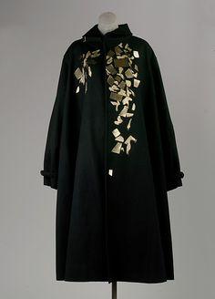 Coat | Yohji Yamamoto (Japanese, born 1943) | Japan, early 1990's | Materials: wool, brass, acrylic | The Metropolitan Museum of Art, New York