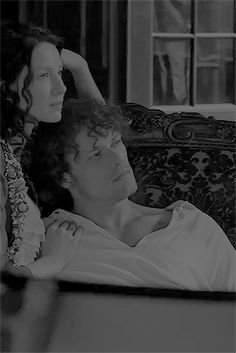 """Jamie & Claire from the Outlander series - caitrionabalfe: """"We've had to get very close so..."""