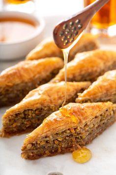 Make Ahead Desserts, Delicious Desserts, Yummy Food, Keto Desserts, Greek Recipes, Greek Dessert Recipes, Dessert Ideas, Easter Recipes, Holiday Recipes