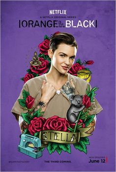 Stella Carlin/Ruby Rose for Orange is the New Black Orange Is The New Black, Laura Prepon, Taylor Schilling, Orphan Black, Netflix Series, Tv Series, Series Lgbt, Harley Quinn, Alex And Piper