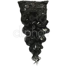 "<p>   	Our <span data-scayt_word=""Bodywave"" data-scaytid=""2"">Bodywave</span> sets are the same high quality as the regular clip in hair extensions, but have a slight permanent wave applied. Perfect for adding to already wavy hair, or increasing hair volume quickly and easily. The set contains a total of eight 22 inch wefts complete with metal clips pre-attached. Jet Black clip in wavy hair extensions, with full instructions included.</p>"