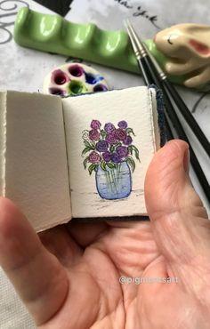 Watercolor Art Lessons, Watercolour Tutorials, Watercolor Artwork, Watercolor Techniques, Watercolor Flowers, Art And Craft Videos, Art Painting Gallery, Mini Paintings, Art Drawings