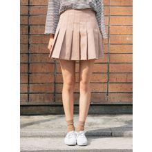 icecream12 - Zip-Side Mini Pleated Skirt