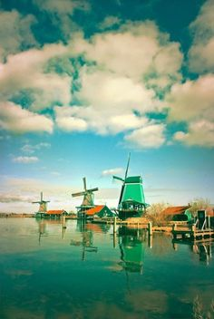 Zaanse Schans, Holland. I want to go see this place one day. Please check out my website thanks. www.photopix.co.nz