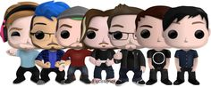 """dannegoma: """" bored. here's some pop vinyl goodness in an exclusive youtuber package bundle. >> funko petition"""