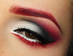 elegantpsychosis:    i wanna do this look; ooh…  me too but i dont own a good red eyeshadow…actually i dont own one at all >.< this woulda looked rad with my red hair >.< dohh….