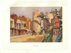 Original Collage on Paper Wild West Western Decor by dadadreams, $20.00