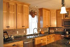 Katydidandkid has inspiring photos, ideas and professional ideas on custom kitchen cabinets to offer homeowners full innovative liberty in their kitchen area designs. Kitchen Remodel, Custom Kitchen Cabinets, Brick Backsplash Kitchen, Kitchen Cabinets Reviews, Home Kitchens, Kitchen Technology, Rustic Kitchen, Hickory Kitchen, Kitchen Cabinets Pictures