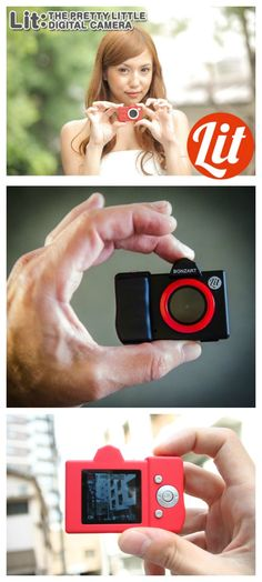 Bonzart Lit is the tiniest, cutest digital camera in existence. #affiliate