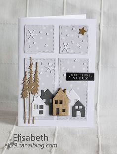 Terrific Cost-Free scrapbook Paper Crafts Tips There exists a great deal that you can do having document in case known only to you these create methods! Holiday Gift Tags, Diy Christmas Cards, Xmas Cards, Holiday Cards, Christmas Crafts, Christmas Scenes, Christmas Cookies, Scrapbook Paper Crafts, Paper Crafting