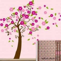 Wall Art Vinyl Removable Decal Nursery Sticker - New Flower Tree | Art_Wall_Project - Housewares on ArtFire