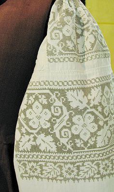 #Ukrainian #embroidery #shirt #Украинская #вышивка #Вышиванка #Українська… Hardanger Embroidery, Folk Embroidery, Embroidery Fashion, White Embroidery, Cross Stitch Embroidery, Embroidery Patterns, Sewing Patterns, Crochet Bedspread, Tapestry Crochet