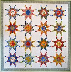 Barbara Brackman's MATERIAL CULTURE: A Few Feathered Stars: Radiant Star 2248