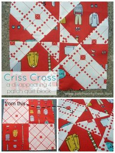 disappearing 4 patch quilt block - criss cross | patchwork posse | easy sewing projects and free quilt patterns