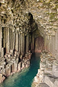 Fingal's Cave ~ Staffa, Scotland Romantic composer Felix Mendelssohn visited in 1829 and wrote an overture, The Hebrides, Op. also known as Fingal's Cave overture), inspired by the weird echoes in. Places Around The World, Oh The Places You'll Go, Places To Travel, Places To Visit, Around The Worlds, Travel Things, Travel Stuff, Fingal's Cave, Sea Cave