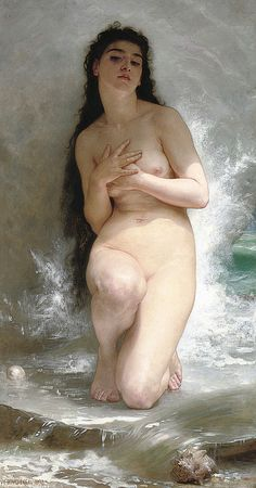 """William-Adolphe #Bouguereau (French, 1825-1905), """"La perle"""""""