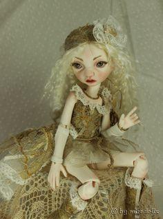 Pip, a little pixie girl,  BJD by miradolls, artist OOAK in design
