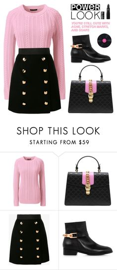 """BA126: Cutest"" by bugatti-veyron on Polyvore featuring Lands' End, Gucci, Dolce&Gabbana, Eugenia Kim and Lipstick Queen"