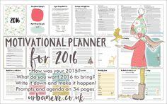 2016 motivational planner