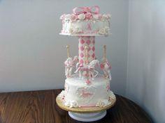 Hope gumpaste horses and roses Carousel Cake, Carousel Horses, Gum Paste, Cake Art, Themed Cakes, Breast Cancer Awareness, Baked Goods, Bakery, Roses
