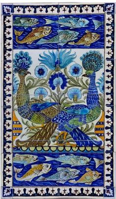 Antique Peacock Tiles