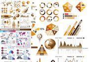 商業チャートベクトルの統計的分析 - ベクターのダウンロード
