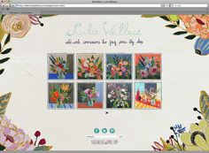 We are beyond thrilled to announce the launch of Lulie Wallace's new website. Lulie is as sweet as they come and it was such a pleasure to design her site. Her artwork is playful, colorful and oh so lovely. Lulie painted the navigation, background and, of course, all of the flowers that frame the site. The site launched just in time for her latest collabroations and mentions in Anthropologie catalogue, Serena and Lily's website and Anthology Magazine. And now we're back to work…