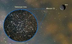 Picture of star cluster Messier 23