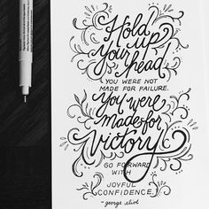 You were made for VICTORY. I love this reminder and I think we need it over and over again. Let's not keep count of our failures. Hand Lettering Quotes, Typography, Hand Illustration, Illustrations, Light Quotes, Calligraphy Art, Hugs, Doodle, Bubble