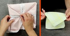6 Simple Napkin Folding Tricks That'll Leave You Stunned Easy Napkin Folding, Food Art, Life Hacks, Napkins, Projects To Try, Entertaining, Diy, Crafts, Design