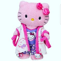 61f58a059fc5 Sleep tight with this adorable kitty gift. She s as cuddly as can be  dressed in a Purple Hello Kitty® Pajamas