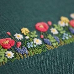The delights of a hand-embroidered flower garden ...
