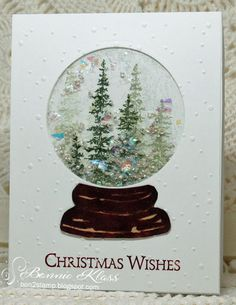Stamping with Klass: Shaker Card