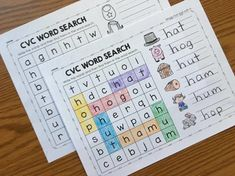 Cvc Words, Word Work, Word Search, Sight Words, Word Games