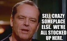 Slikovni rezultat za jack nicholson quotes as good as it gets Funny Picture Quotes, Funny Quotes, Humorous Sayings, Geeks, The Blues Brothers, Favorite Movie Quotes, Got Quotes, Movie Lines, About Time Movie
