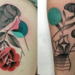 A tatuadora brasileira Aline Watanabe fala sobre seu progresso e suas novas tatuagens abstratas e figurativas. Sua arte na pele é cada vez mais fantástica!