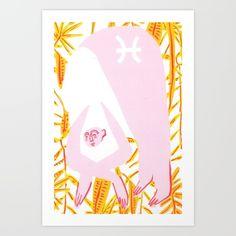 Pisces Horoscope Art Print