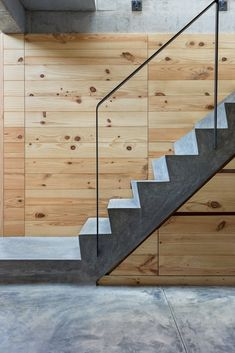 Gallery of Architects Home Studio / BetweenSpaces - 7 Stairs and railing fantastic, walls cheap covering. Beautiful Houses Interior, Beautiful Homes, Staircase Handrail, Railings, Outdoor Stair Railing, Beautiful Stairs, Interior Stairs, Architect House, Facade Architecture