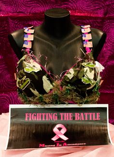 MIA (Bra Creator(s): Rock Solid Ladies Group - Registered By: Rock Solid Ladies Group) BRAvo! Moment: All of us in our group have either fought breast cancer or have a friend/relative who have. We would like to see this battle won for all. Decorated Bras, Ladies Group, Bras Best, Breast Cancer, The Creator, Battle, In This Moment, Rock, Skirt